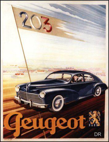 affiche ancienne, Peugeot 2003