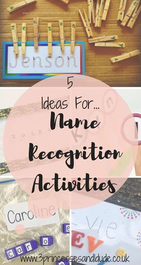 Fun activities to help children recognize their names