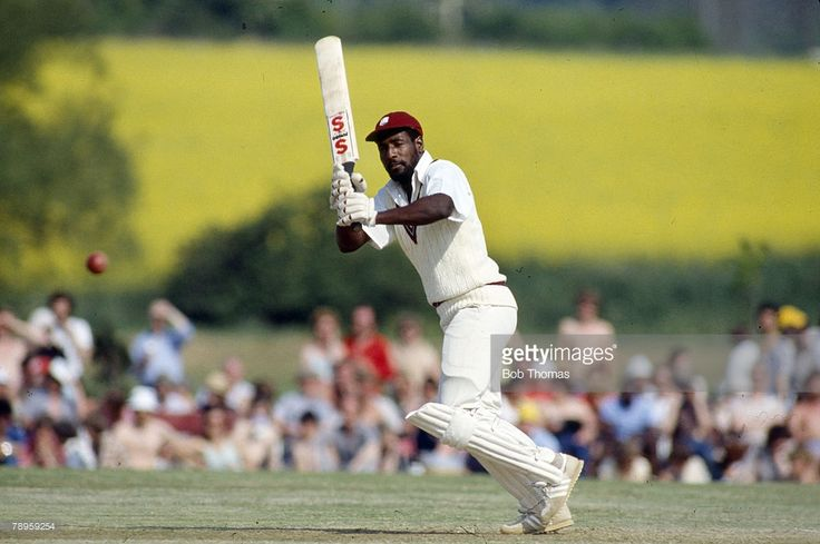 18th May 1980, Tour Match at Bletchley, Northamptonshire v West Indies, Viv Richards, West Indies master batsman, Viv Richards played in 121 Test matches for West Indies between 1974-1991 and was one of the best batsman of all time