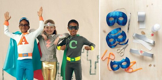 Check this site out for Do It Yourself Super Hero costume ideas. Bigs, these are some fun and simple costumes for your Littles!