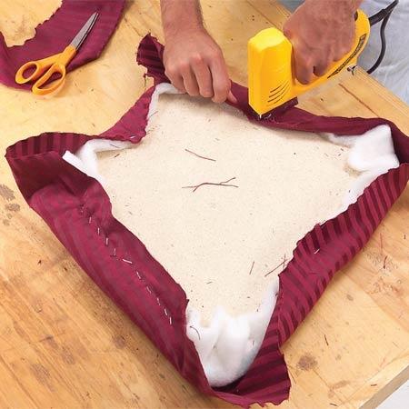Photo 2: Staple the fabric