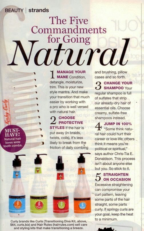 I feel this can apply to all who wants to work with just their natural hair weather relaxed or not .. transitioning tips