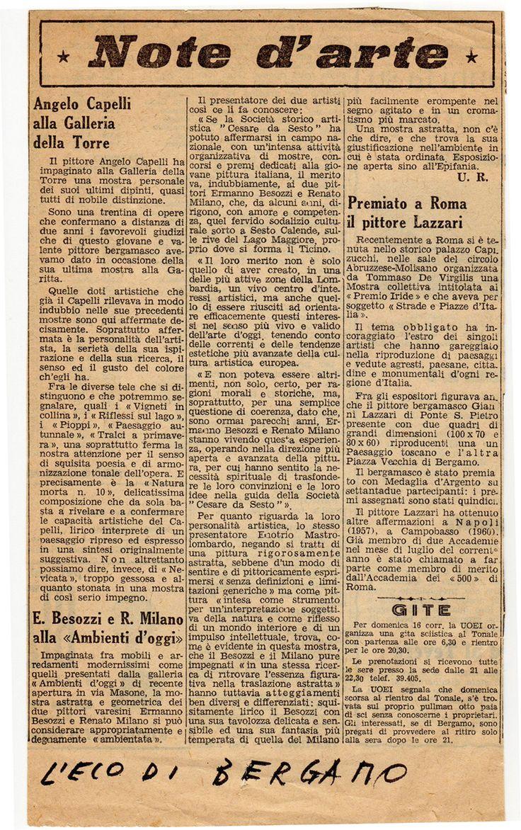1962 Giornale L'Eco di Bergamo (con immagini ...