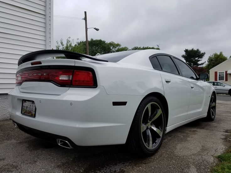"""2014 Charger R/T on stock 20"""" wheels w/ eibach Sportline suspension lowered 1""""."""