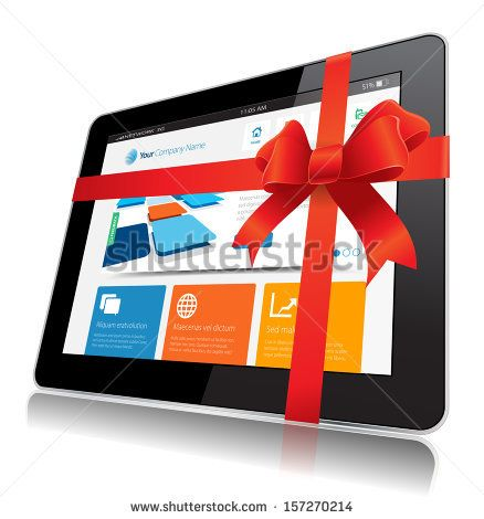 This image represents a Internet Tablet vector. / Internet Tablet Gift / Internet Tablet Gift