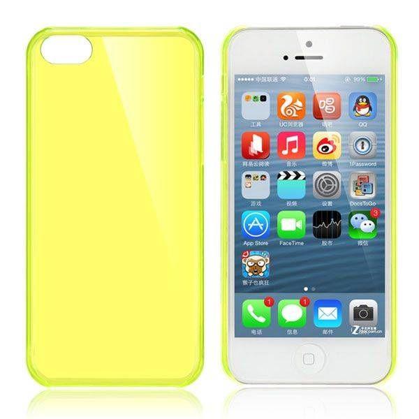Geel / transparant hardcase hoesje iPhone 5C