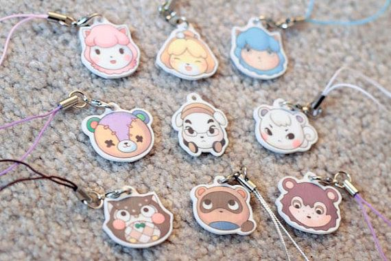 Animal Crossing Charms | Key chains and Cell phone straps ...