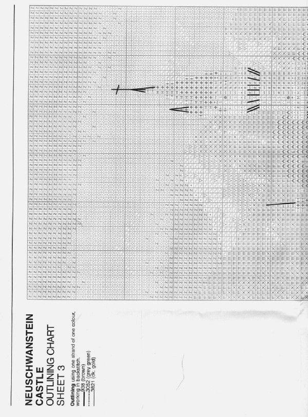Schema punto croce Castello Neuschwanstein 06
