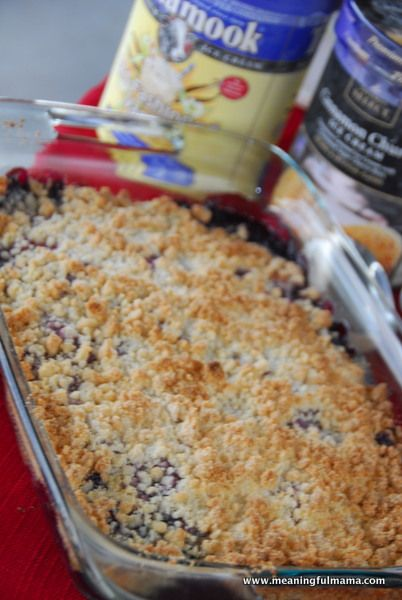 4 Ingredient Berry Cobbler Recipe - used fresh berries and only need 30 minutes bake time in convection oven