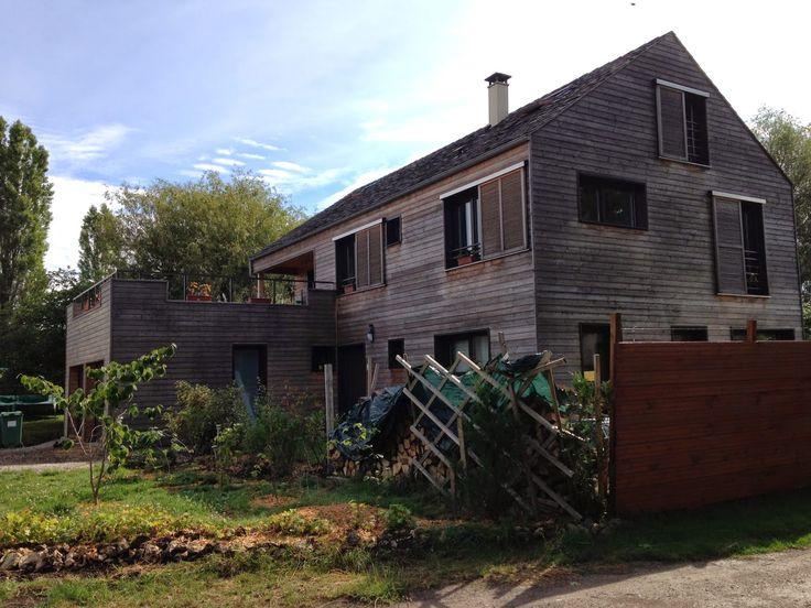 maison bois cernay france en bardage red cedar par benoit robein architecte bois wood on. Black Bedroom Furniture Sets. Home Design Ideas