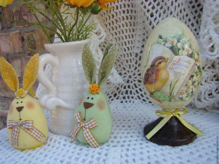 Купить Большое Пасхальное яйцо  Весеннее - ярко-зелёный, яйцо пасхальное, яйцо декупаж