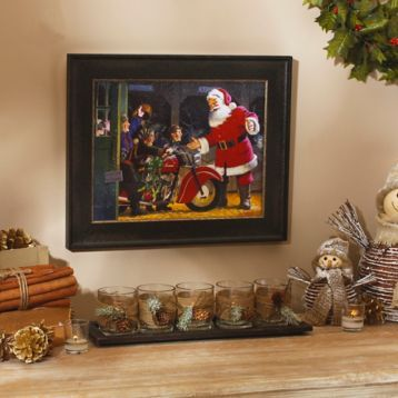 Give your decor a little edge with the Motorcycle Gift Framed Art Print. #kirklands #holidaydecor