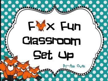 Fox Fun Classroom Set Up