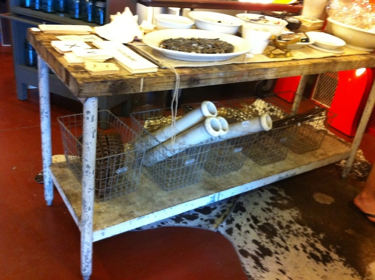 How do I re-create & make EVERYTHING to have this country kitchen table... not to mention the great addition of the cow-skin rug