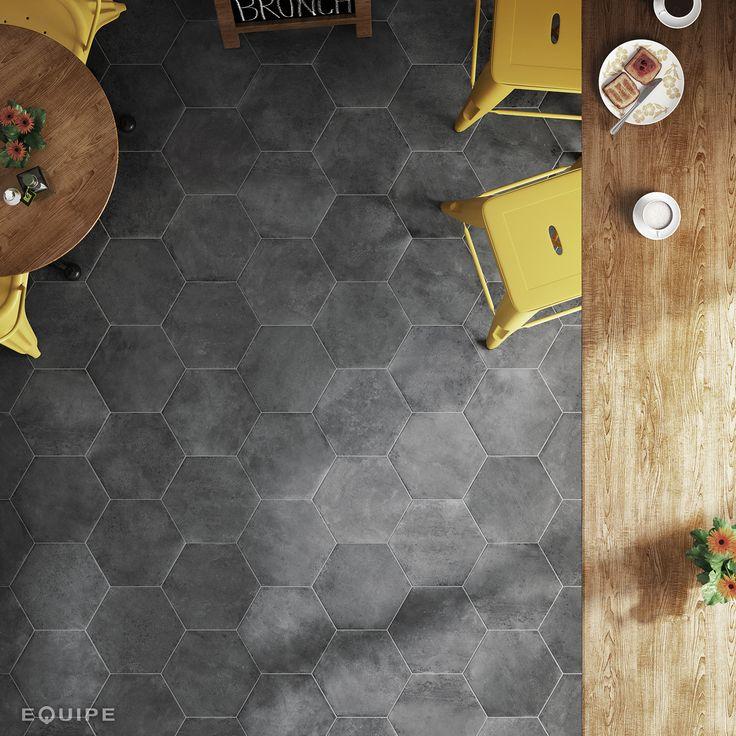Urban Hexagon Dark 29,2x25,4 cm