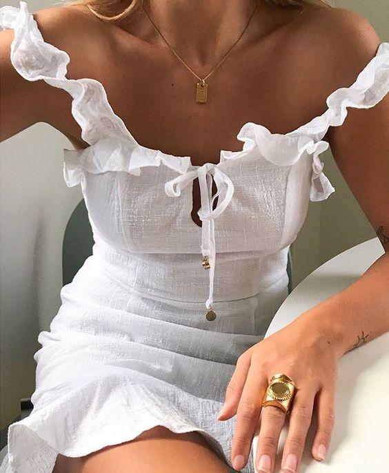 off the shoulder dress crush