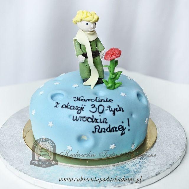 51BA. Tort Mały Książę z różą na planecie. Le Petit Prince cake – ispired by  the most famous work of French writer and poet Antoine de Saint-Exupéry.