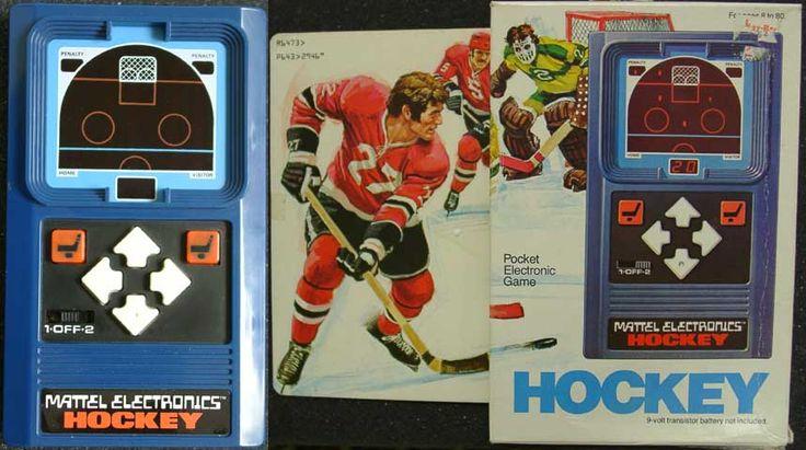 Mattel Electronics Hockey Toys From My Childhood