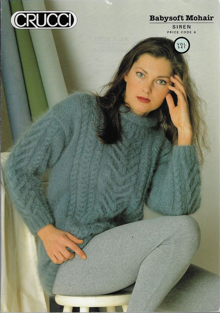 e9dcbfbec8fbe5 Women s Cable Sweater Crucci   541 knitting pattern mohair yarn  Crucci