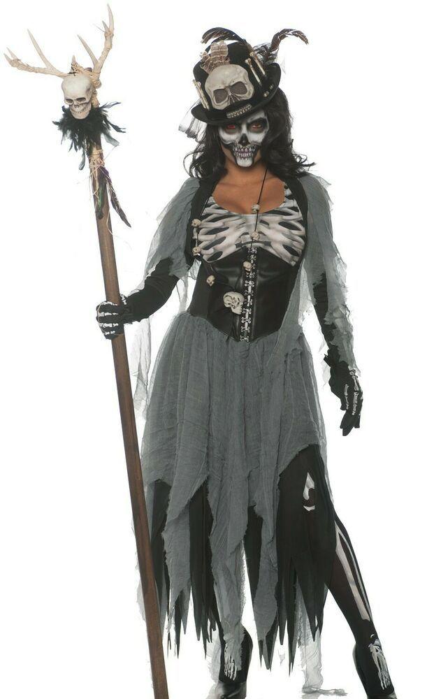 Black Magic Voo Doo Priestess Costume Womens Voodoo Witch Doctor Small S 4 6 Underwraps Voodoo Priestess Costume Priestess Costume Halloween Fancy Dress