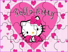 JuegosKitty.com - Juego: Puzzle Corazones Hello Kitty - Juegos Gratis Infantiles