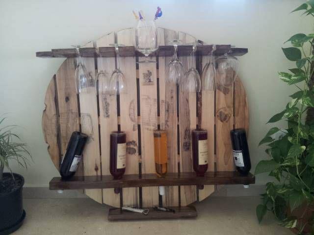 #botelleros en #madera de #palet