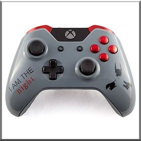 Arkham City Batman- http://www.gamermodz.com/arkham-city-batman-themed-custom-xbox-one-controller