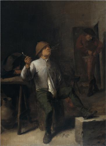 The Smoker - Adriaen Brouwer
