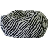 Fashion Medium Faux Suede Animal Print Bean Bag Chairs