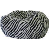 Fashion Medium Faux Suede Animal Print Bean Bag Chairs