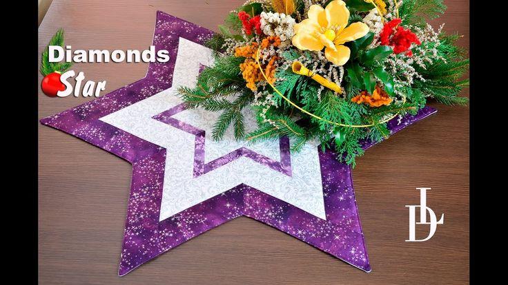 #patchwork #diamonds #star #vánoční #pravítka #šablony #tutorial