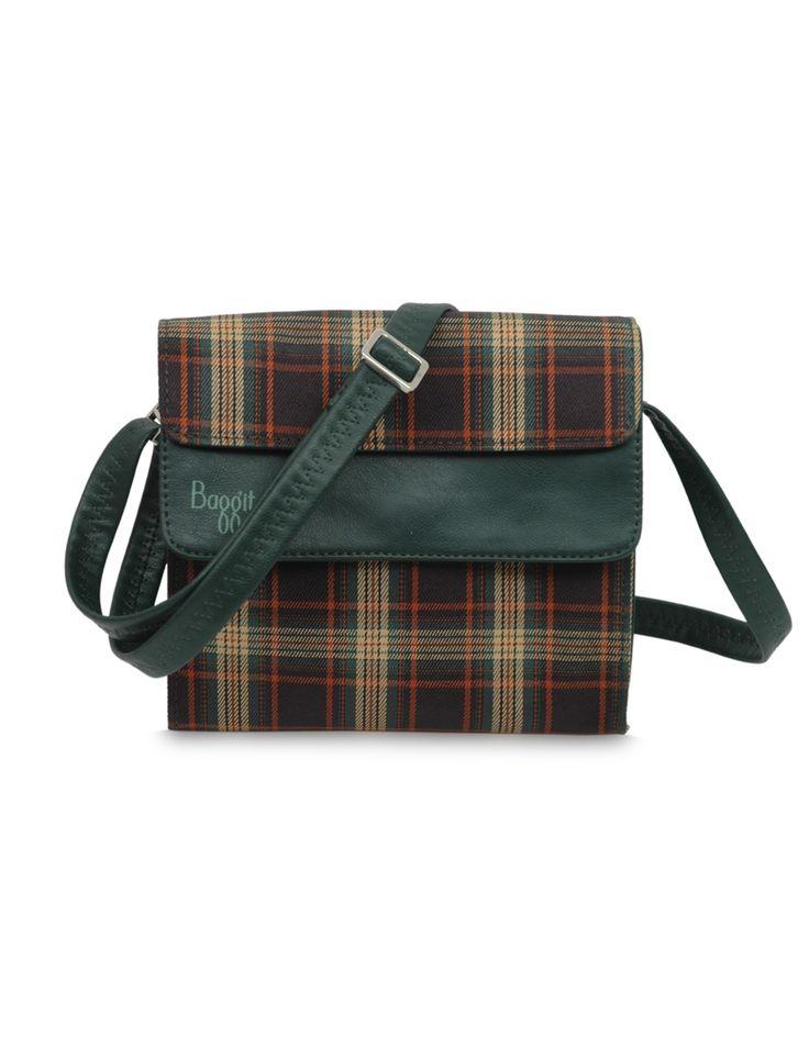 Modishx Checksy Green - Rs. 1,325  Buy Now : www.baggit.com