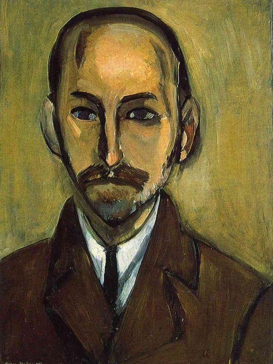Portrait of Michael Stein by Henri Matisse   Medium: oil on canvas