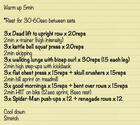 Awesome full body workout - cardio and resistance in one! Sure to get you sweating and lean in no time! xx