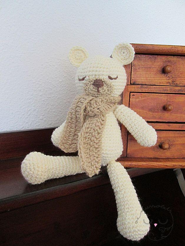 Fantástico Oso Patrones De Crochet Libre Galería - Manta de Tejer ...