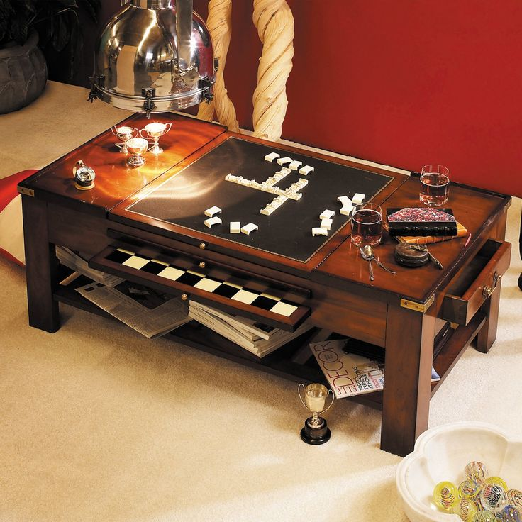 Great Authentic Models Game Table Coffee Table Black | From Hayneedle.com