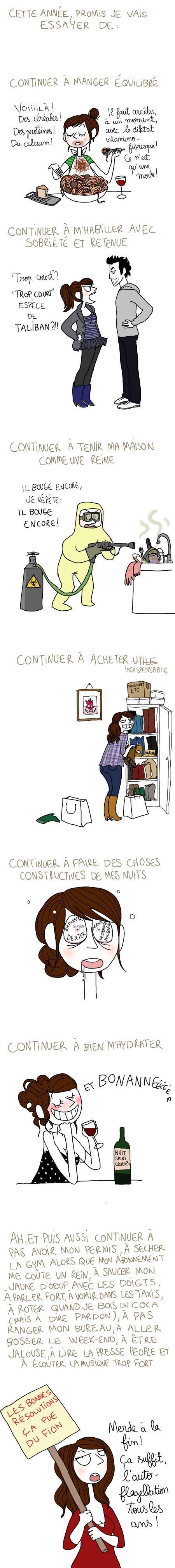 - les bonnes résolutions, by Pénélope Bagieu -: