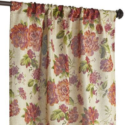 Give your windows a curtain companion with a decidedly vintage-garden vibe. A pretty floral pattern adds a soft yet vibrant feel in your living room or bedroom.