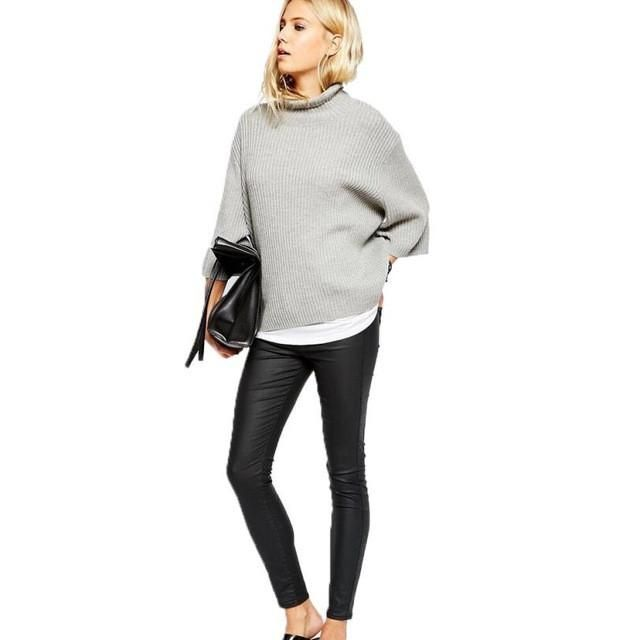Loose Turtleneck Pullover