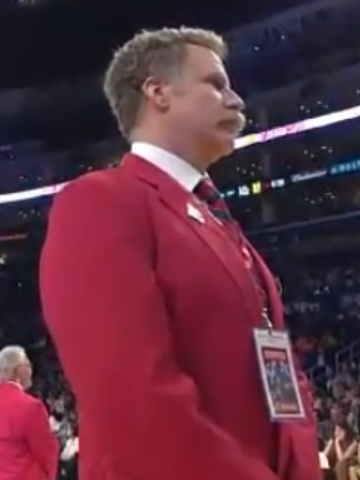 Will Ferrell worked security at Lakers game, 'ejected' Shaq
