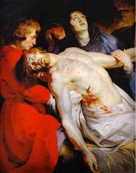 El entierro de Cristo 1612 Autor:Peter Pauls Rubens