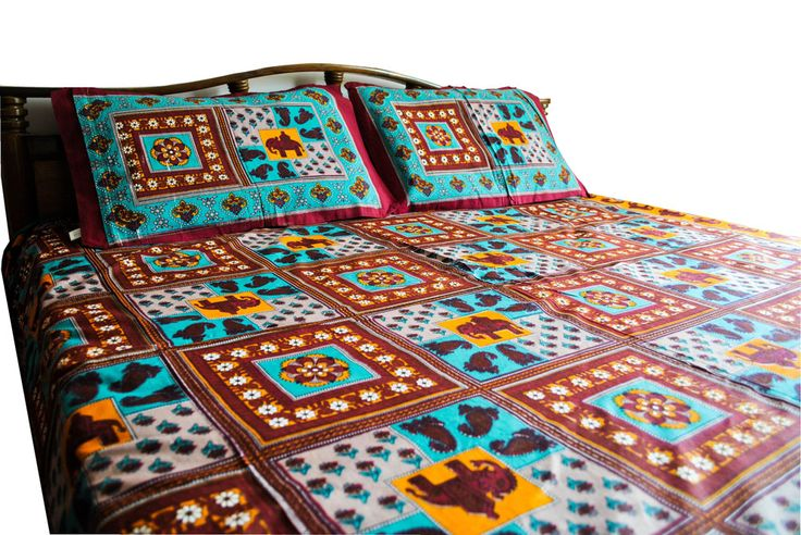 Hand Block Printed Bed Sheets for your bedroom  product id: SS30010