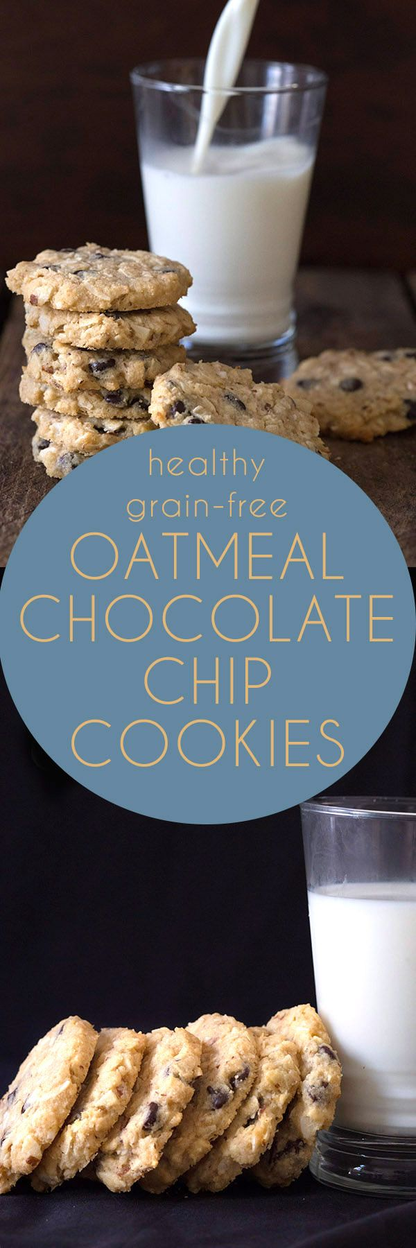 Best low carb Oatmeal Chocolate Chip Cookies. LCHF Keto Banting THM Recipe.