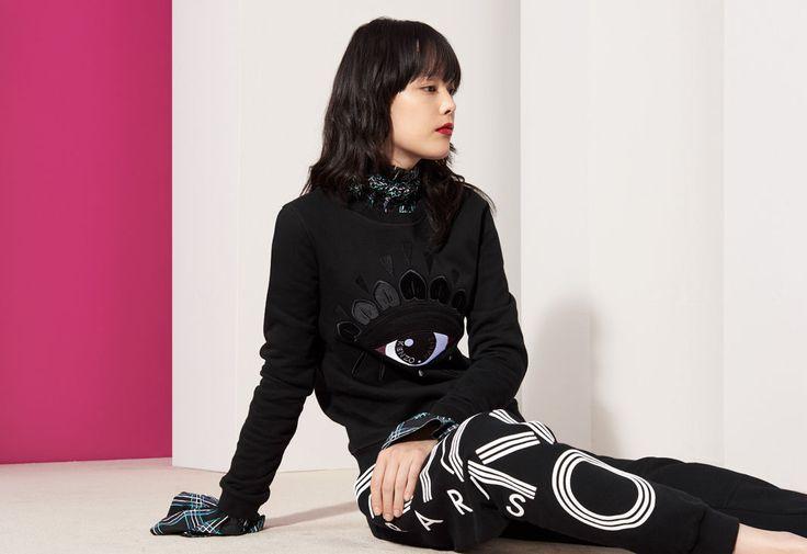 Eye Sweatshirt, BLACK, KENZO