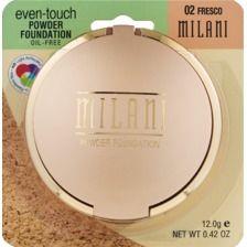 Drugstore dupe for Mac Studio Fix  Milani Even-Touch Powder Foundation, 02 Fresco