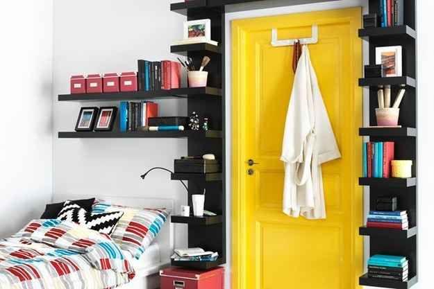 Build a bookshelf door.