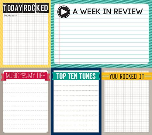 Today rocked free journaling card set for project life.