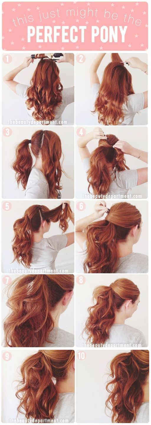 Step-by-step tutorial on the ponytail.