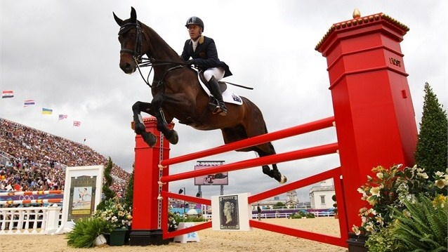 Andrew Hoy of Australia competes in the Show Jumping Equestrian event