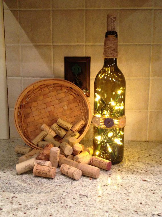 Light up wine bottle by BrightBottleBoutique on Etsy, $22.00